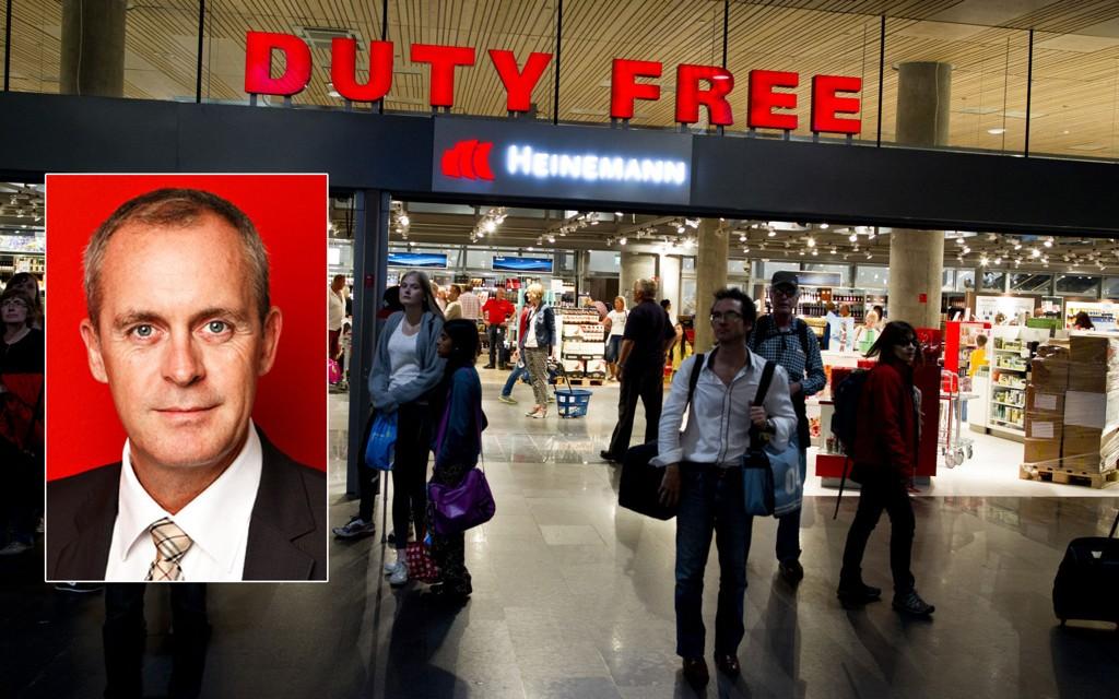 Administerende direktør Håkon Fjeld-Hansen i Travel Retail Norway, som driver taxfree-butikkene i Oslo, Bergen, Trondheim, Stavanger og Kristiansand.