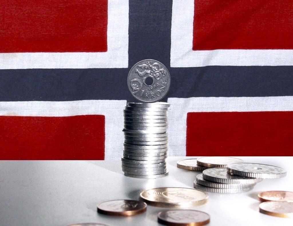 Norske kroner faller i verdi.