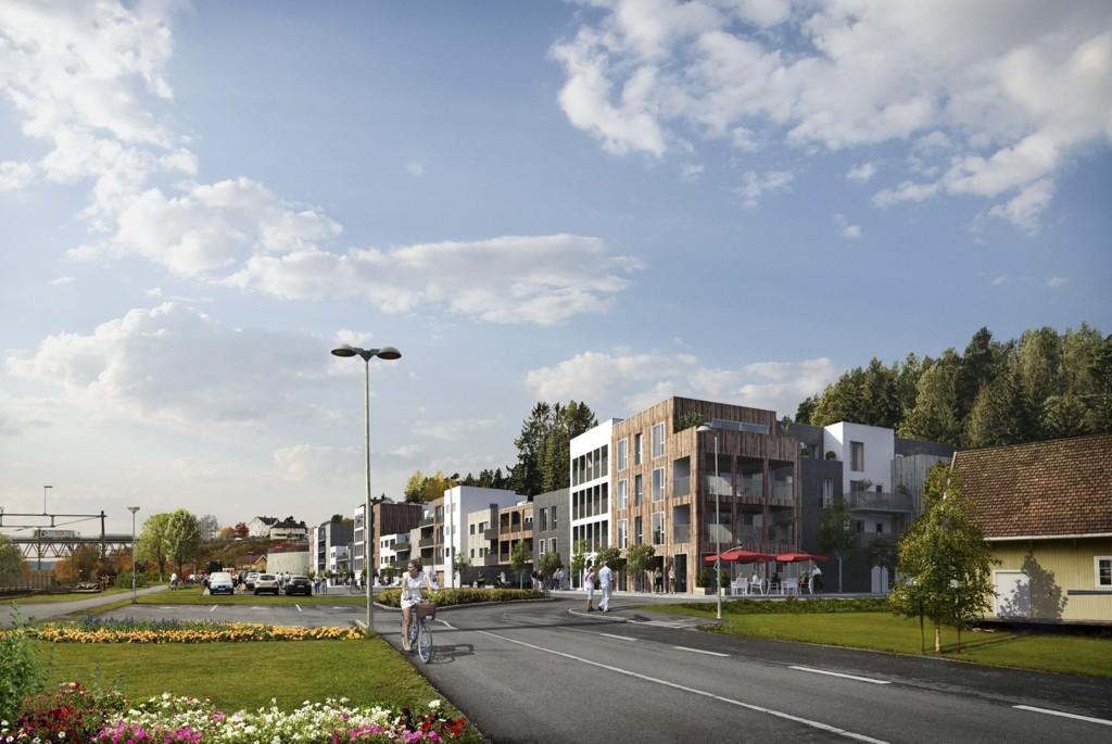 ALGSKLARE: Kreftene bak leilighetsprosjektet «Elvesundet» er klare for å starte salget av 74 leiligheter midt i Fetsund sentrum - uavhengig av hvor ny bru over Glomma skal gå.
