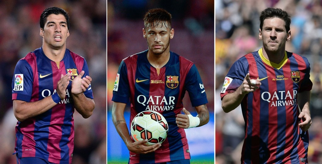Trekløveret Luis Suarez, Lionel Messi og Neymar er i ferd med å finne tonen sammen.