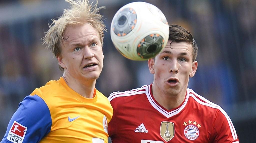 Håvard Nielsen scoret to mål i Braunschweigs siste kamp og er lagets toppscorer med seks mål.