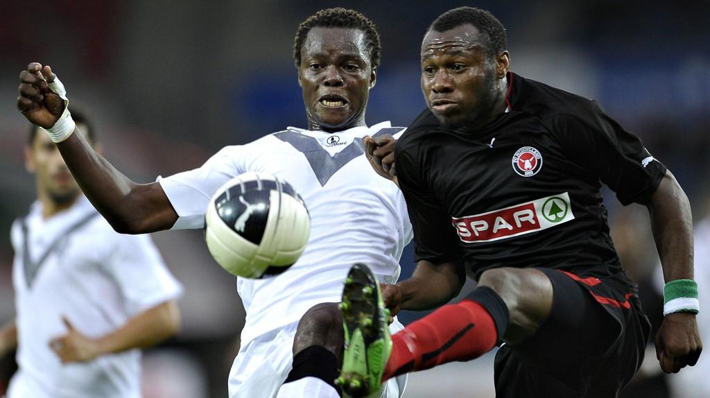 Midtjylland og toppscorer Sylvester Igboun (til høyre) har hatt en strålende sesong i Superligaen så langt.