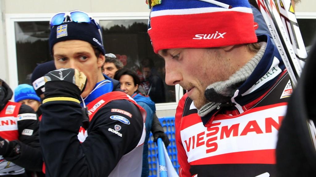 LEI: Marcus Hellner er lei av å snakke om Petter Northug. Men han tror det hjelper for langrennssportens interesse.