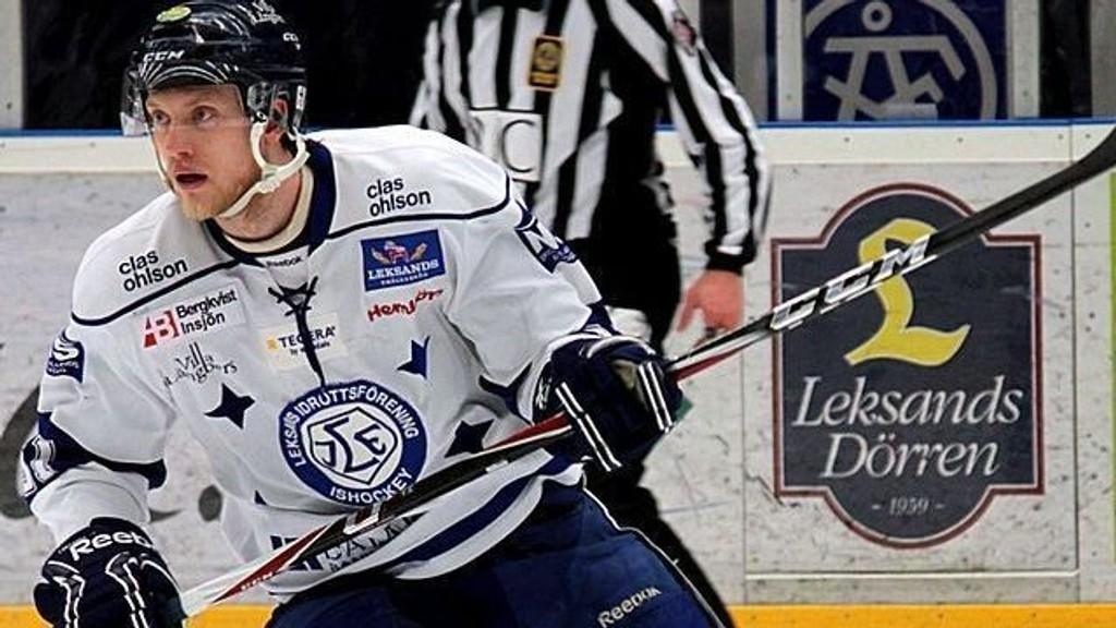 Storscoreren Johan Ryno er en av flere Leksand-spillere som er skadet eller usikre til kveldens match mot serieleder Skellefteå.