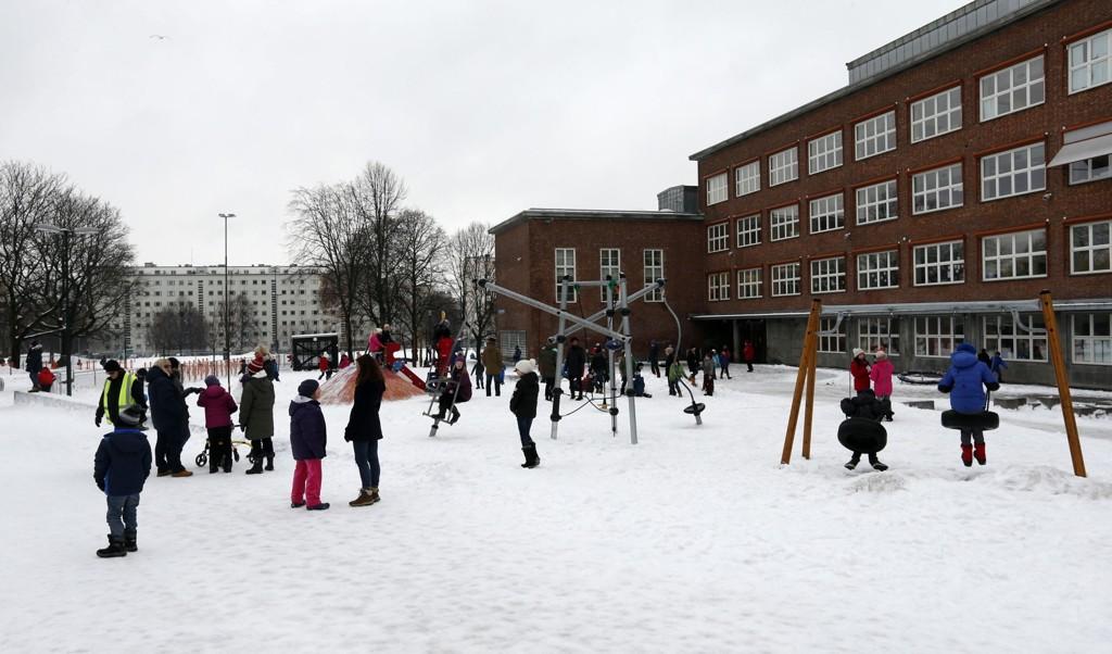 PÅ TOPP: Marienlyst skole i Oslo er en av skolene på topp 20-listen over de som har gjort de best i de nasjonale prøvene på ungdomstrinnet.