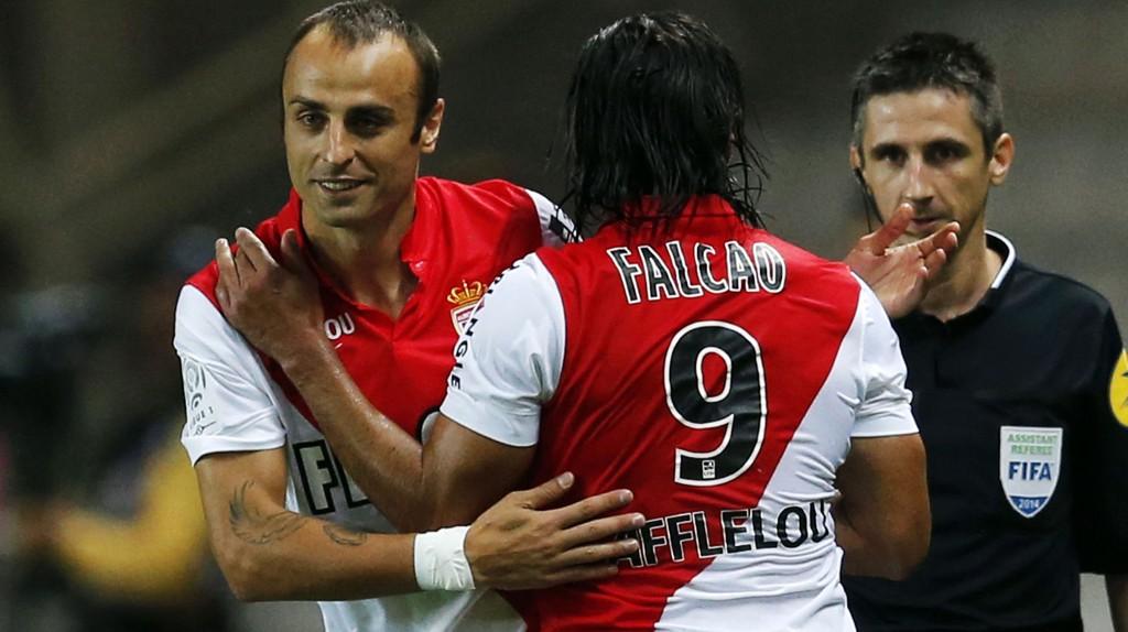 Dimitar Berbatov er Monacos faste spiss etter at Radamel Falcao gikk til Manchester United tidlig i sesongen.