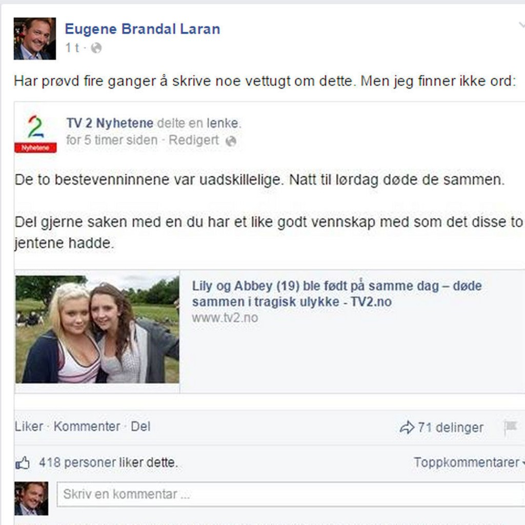 TV-deling på Facebook