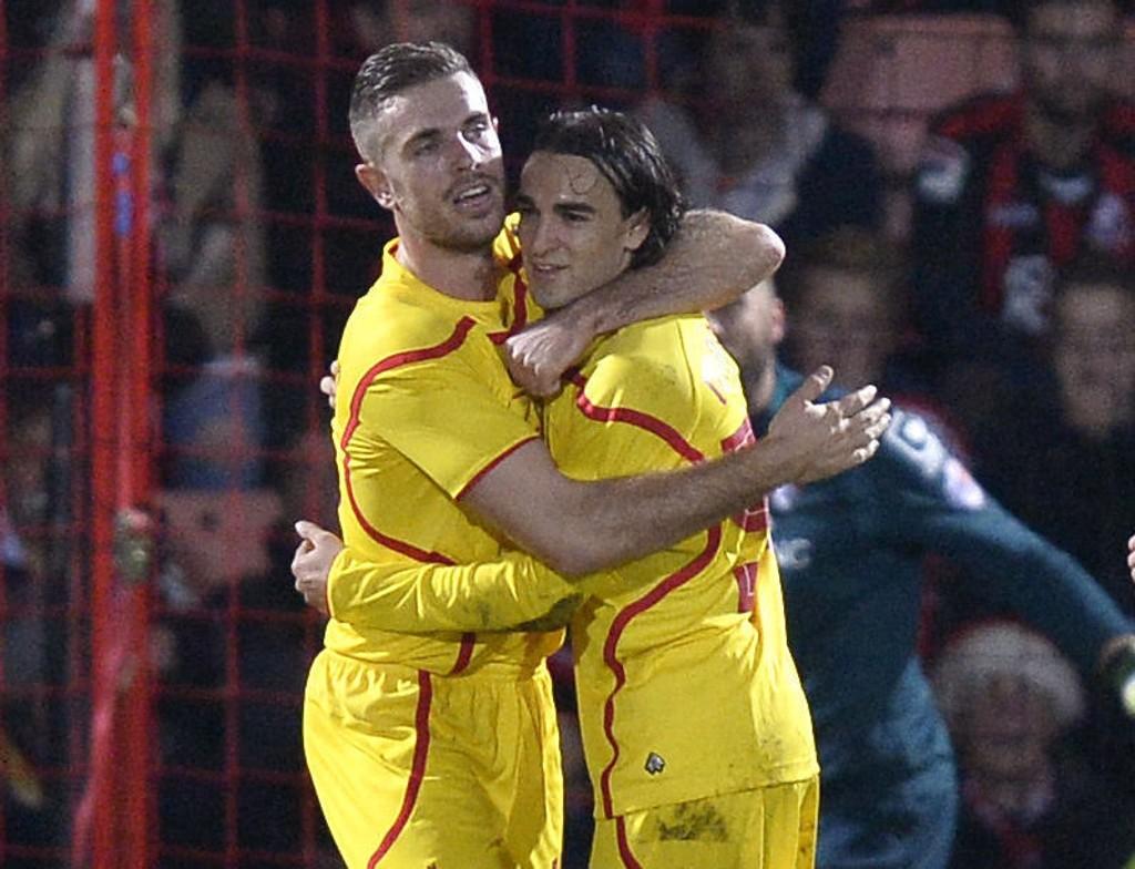ENDELIG: Lazar Markovic feiret sitt første Liverpool-mål.