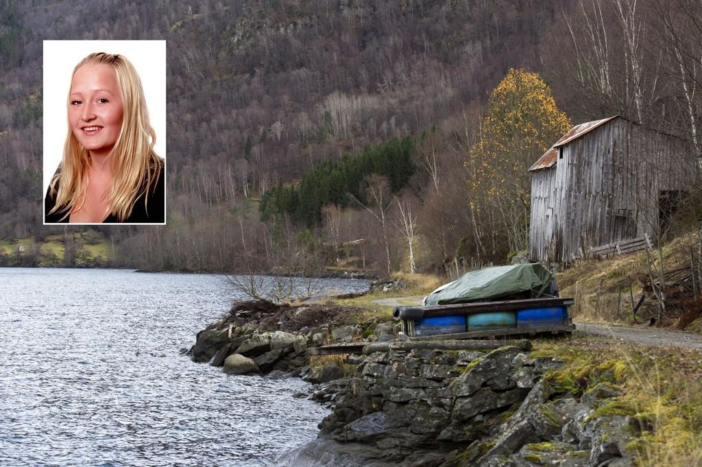 FUNNET DØD: I dette området ved Barsnesfjorden ble Veronica Heggheim Stegegjerdet (22) funnet død. Foto: Scanpix
