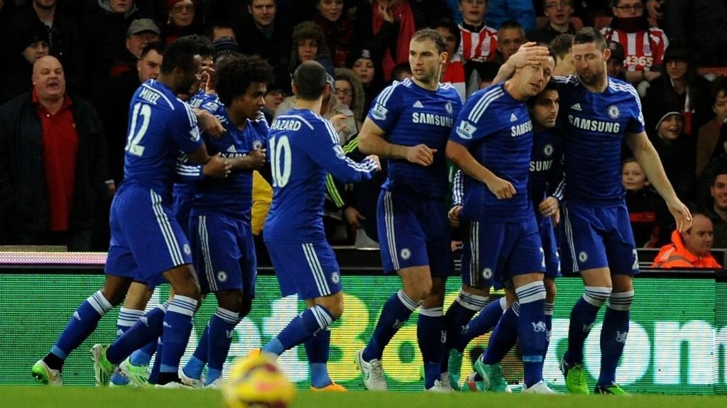 NY SEIER: Chelsea tok tre nye poeng da de slo Stoke mandag kveld.