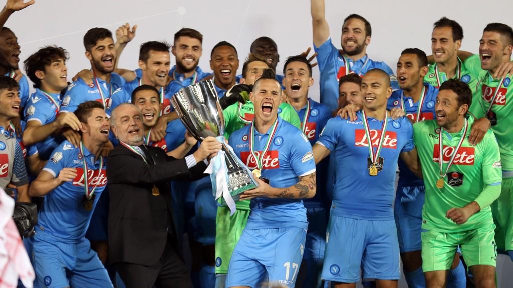 VANT: Napoli kunne juble etter å ha vunnet den italienske supercupen.