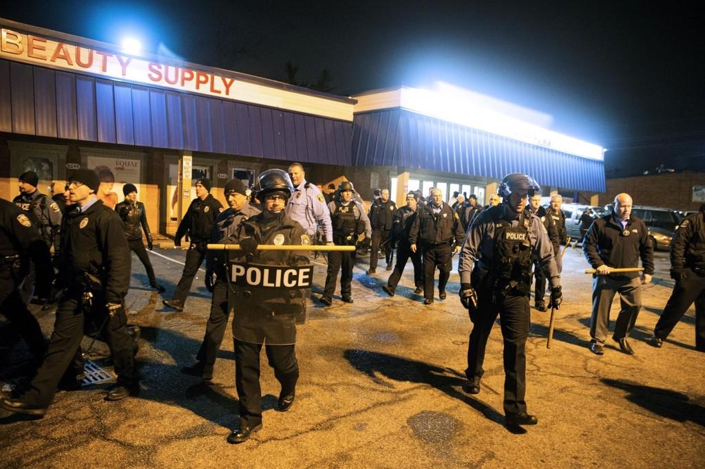 Minst to personer ble pågrepet under demonstrasjonen natt til torsdag.