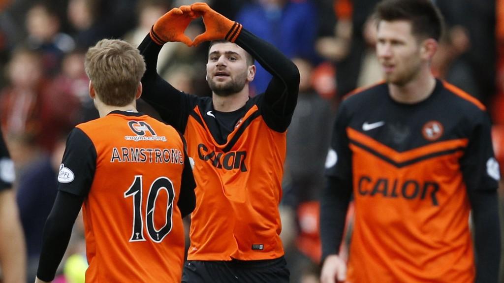Dundee United tok en sterk seier mot Celtic sist.