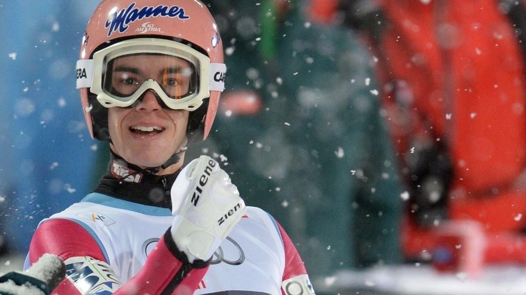TIL TOPPS: Stefan Kraft vant mandagens hopprenn i Oberstdorf.
