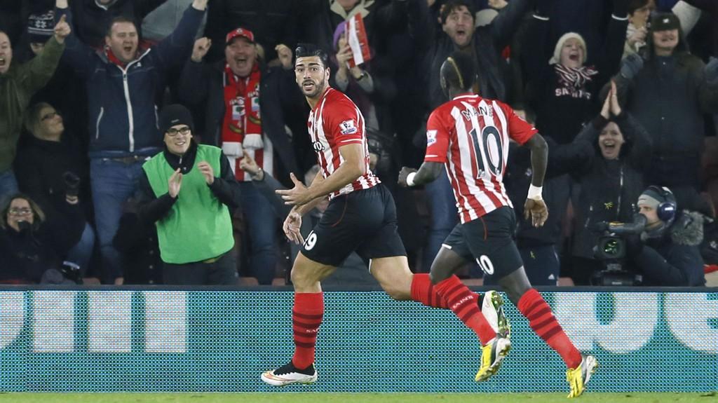 Graziano Pelle (til venstre) er en av mange Southampton-spillere som har levert varene hittil.