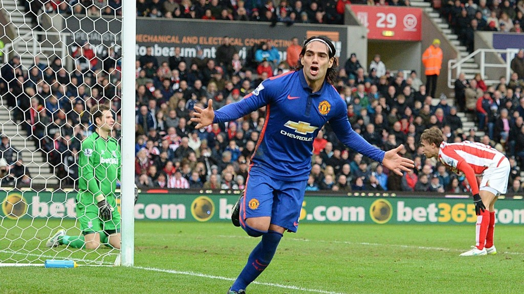 GOALGETTER: Radamel Falcao viste frem målscoreregenskapene mot Stoke.