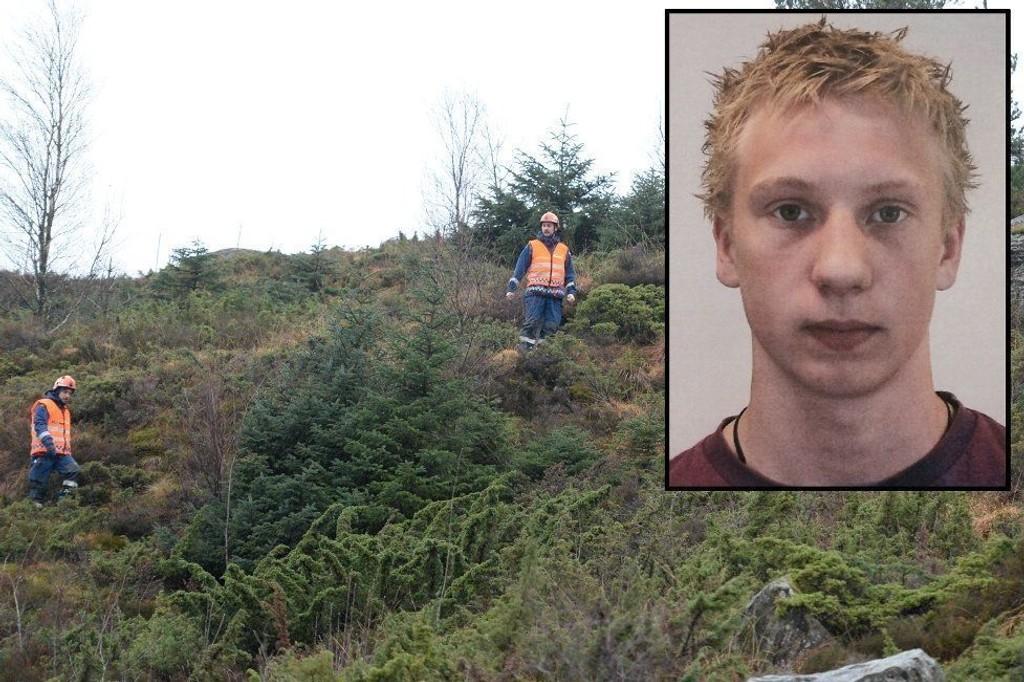 Politiet søker etter 18 år gamle Fredrik Johannessen Lie ved Ekerhovd på Sotra.