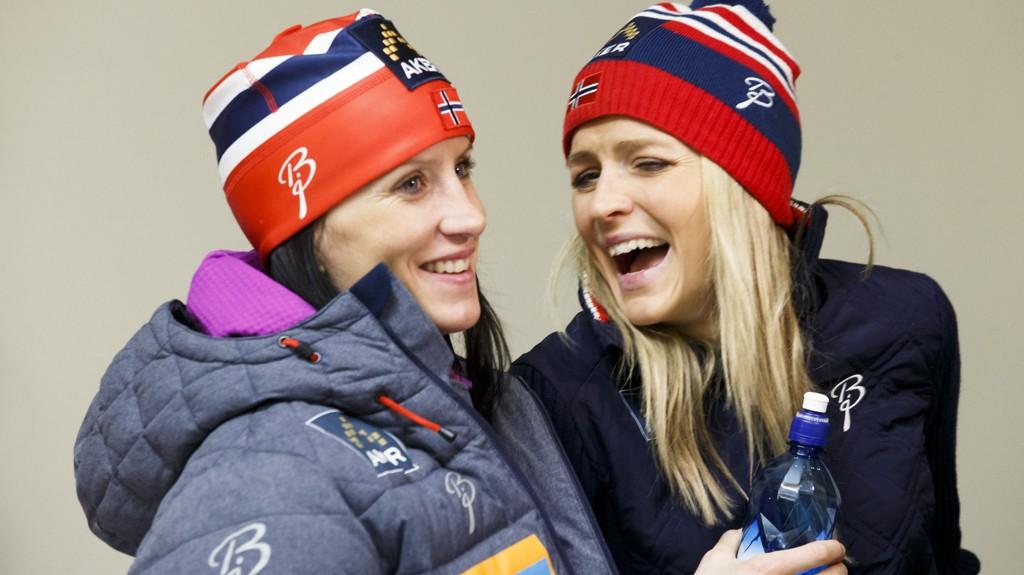 DUELLEN: Marit Bjørgen og Therese Johaug er favorittene til å vinne årets Tour de Ski.