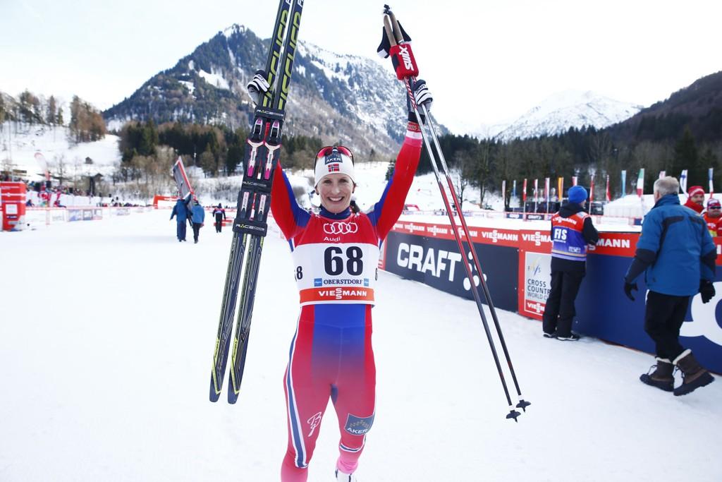 VANT: Marit Bjørgen var suveren på lørdagens prolog i Tour de Ski.