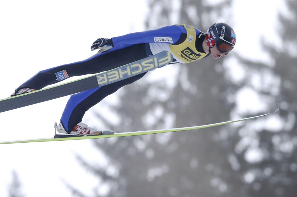 LEDER: Håvard Klemetsen leder etter hopprennet i Schinach.