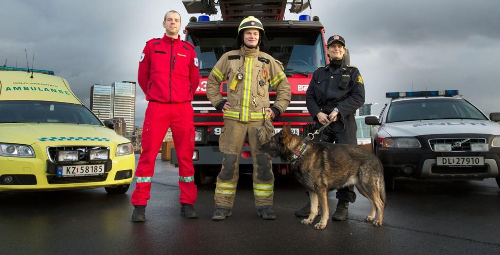 Tomas Myrvik (f.v.), Jørgen Lie og Karoline Lynne har noe til felles. De skal alle jobbe for at du skal være trygg.