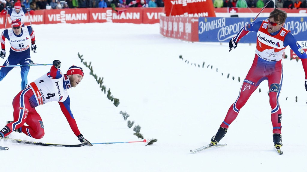Petter Northug og Martin Johnsrud Sundby kan komme til å samarbeide under torsdagens 25 kilometer i Tour de Ski.