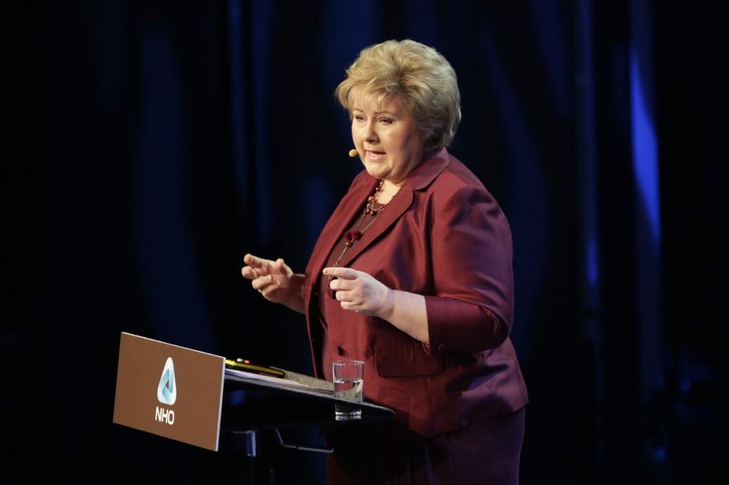 NHOs årskonferanse 2015 Statsminister Erna Solberg.