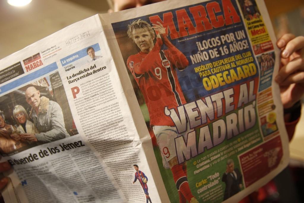 SNU: Marca oppfordrer Martin Ødegaard til å velge Real Madrid.