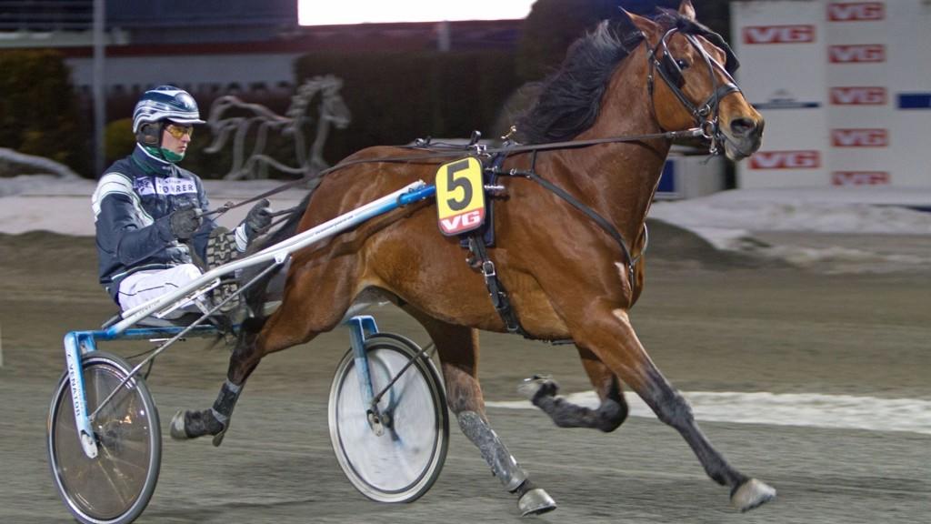 Jeppe Rask (her med norgeskjenningen NY Love Game) kusker Nettavisens V5-banker i Ålborg fredag ettermiddag.