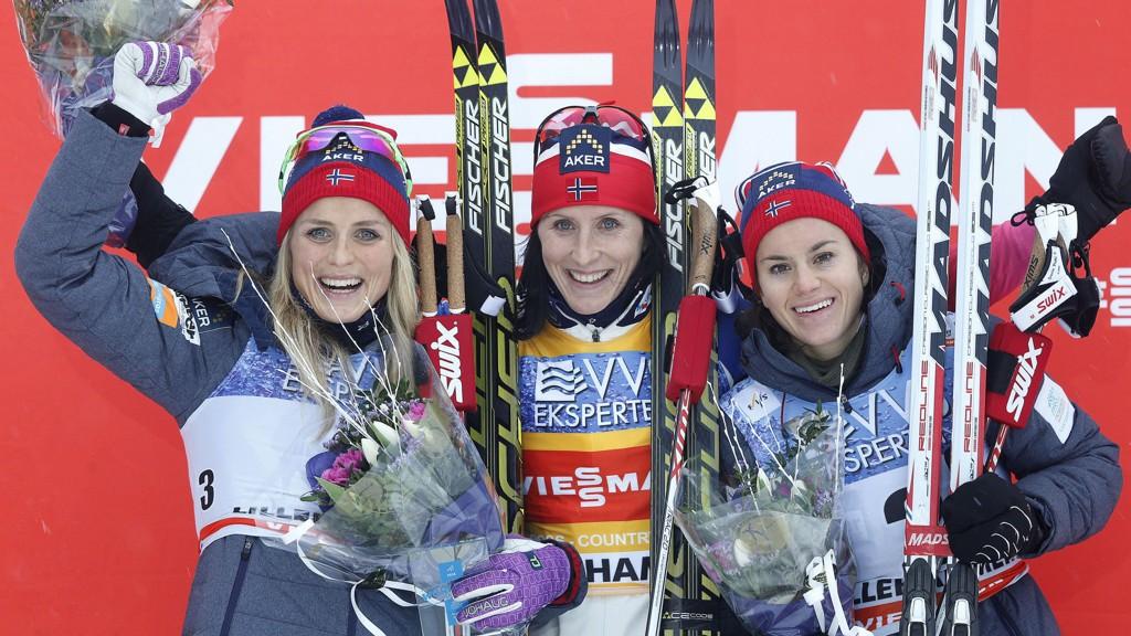 Heidi Weng og Therese Johaug kjemper en durabelig kamp om andreplassen sammenlagt i Tour de Ski.