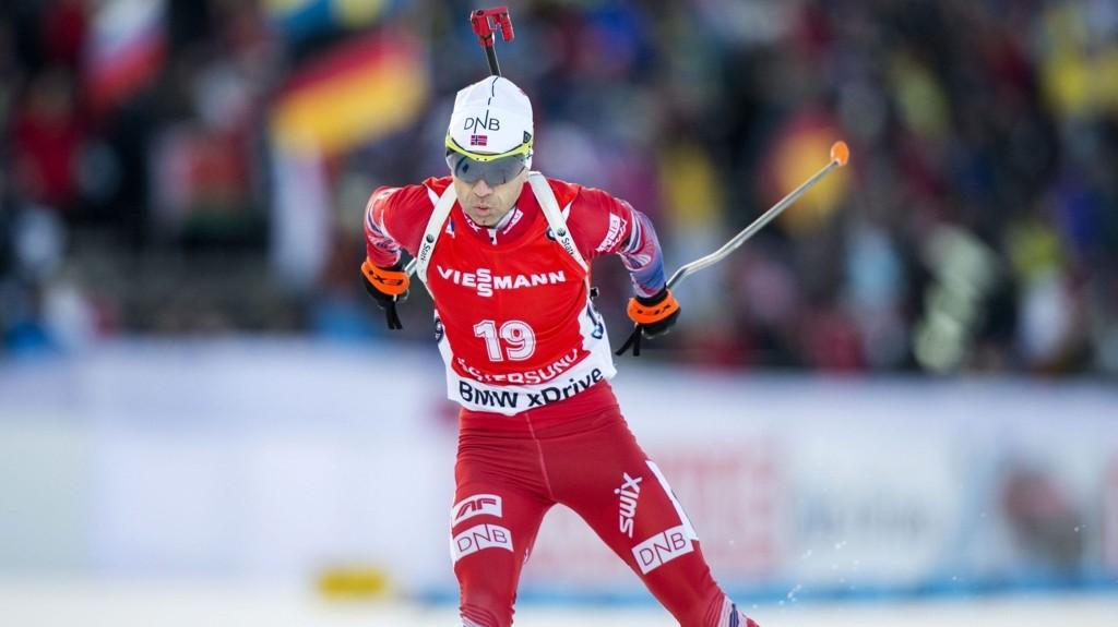 TAPTE SEKUNDSTRID: Ole Einar Bjørndalen måtte se seg slått av Martin Fourcade med 4,4 sekunder.