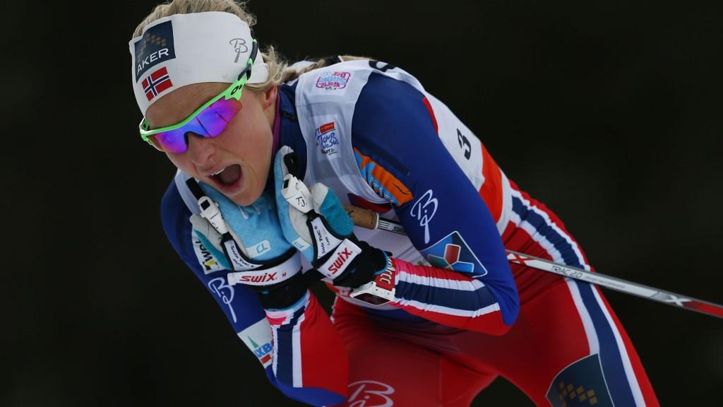 SEIER: Therese Johaug spurtslo Marit Bjørgen og vant lørdagens etappe i Tour de Ski.