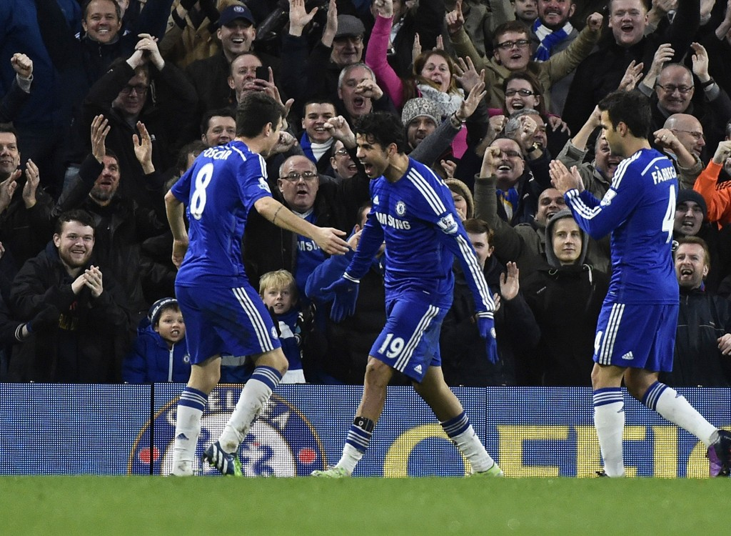 SUPERLAG: Chelseas fantastiske sesong fortsatte med en ny trepoenger mot Newcastle.