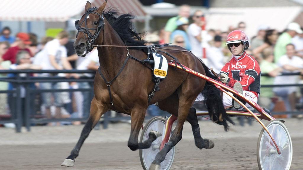 Johan Untersteiner kjører tre av dagens favoritter i jackpotomgangen fra Kalmar.