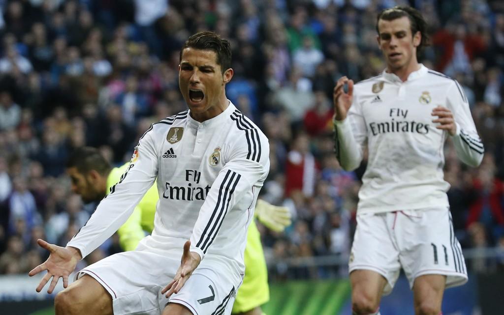 SINNA: Cristiano Ronaldo skal ha blitt sur da han ikke fikk ballen av Gareth Bale.