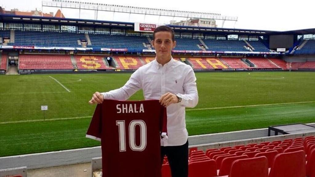 NY KLUBB: Herolind Shala signerte for Sparta Praha etter at kontrakten med Odd gikk ut.