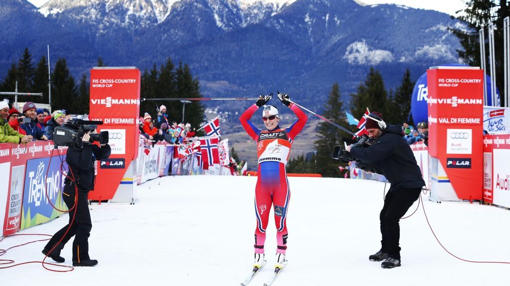 Marit Bjørgens mål om minst ett individuelt gull i Falun-VM ser akkurat nå ut til å skulle oppfylles til gagns.