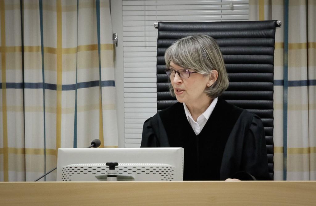 Tingrettsdommer Ingrid Røstad Fløtten under hovedforhandlingen i saken.