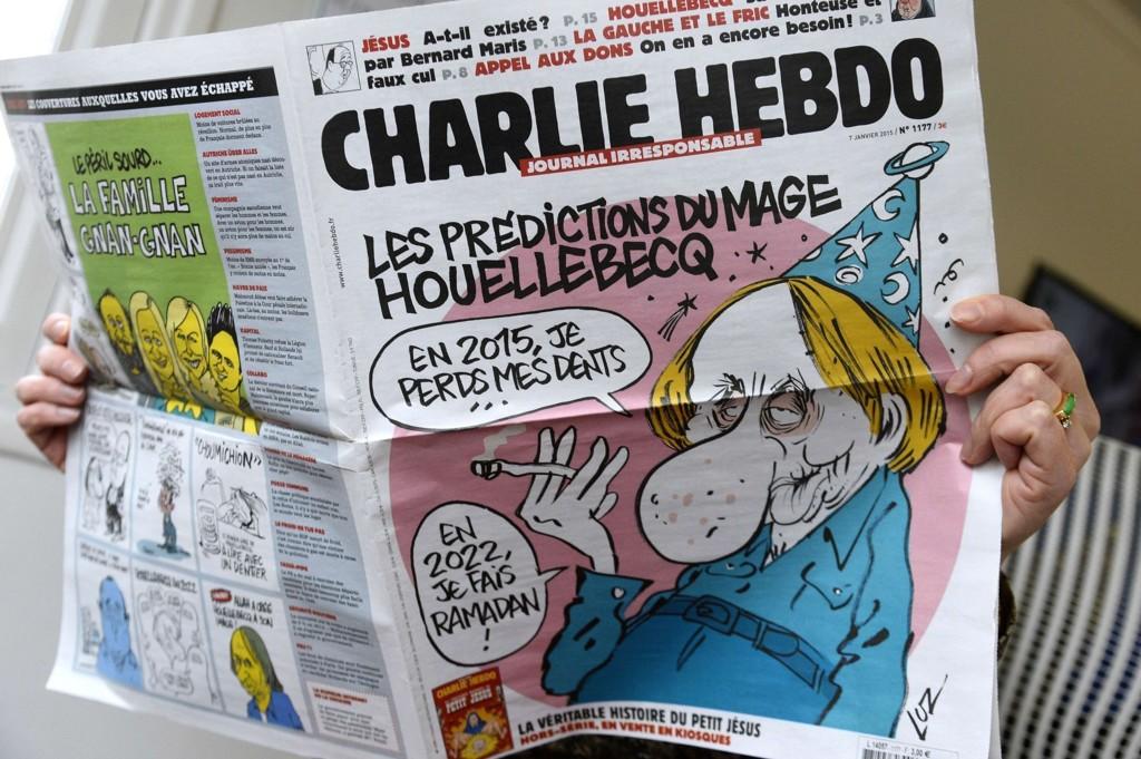 NYE KARIKATURER: Charlie Hebdo kommer onsdag med nye karikaturer av profeten Muhammed.
