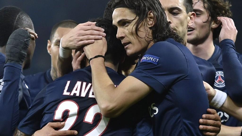 Paris Saint-Germain søramerikanske stjerneduo Ezequiel Lavezzi og Edison Cavani (i midten av bildet) er nok en gang utelatt fra troppen av en sint Laurent Blanc.