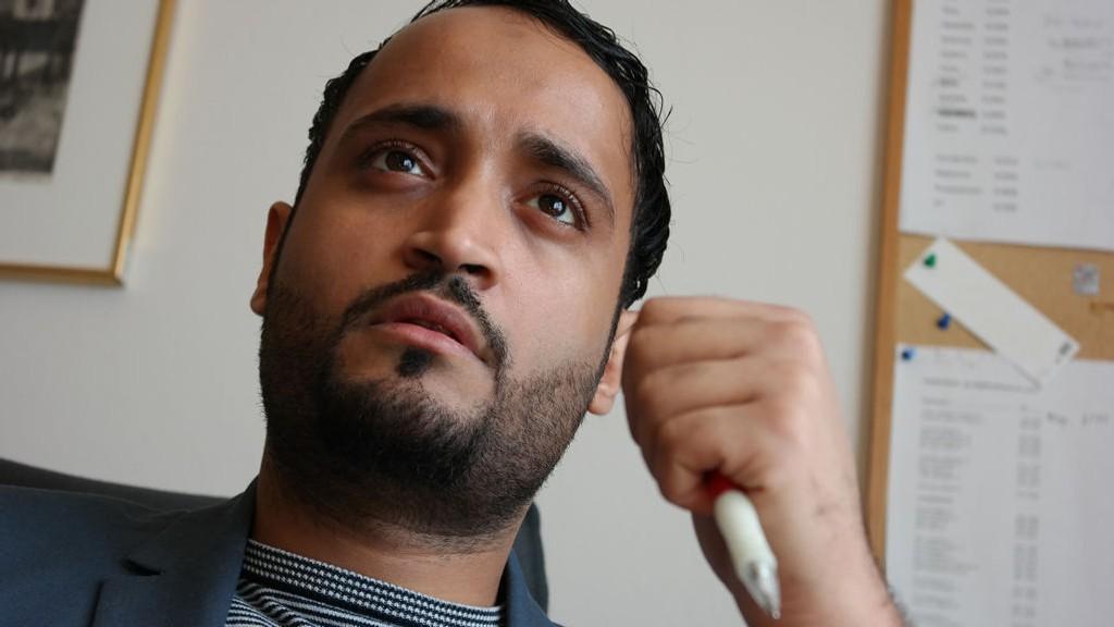 REAGERER: Abdullah Alsabeehg (bildet) reagerer på uttalelsene læreren og Pegida-talsmannen Max Hermansen gir til Nettavisen.