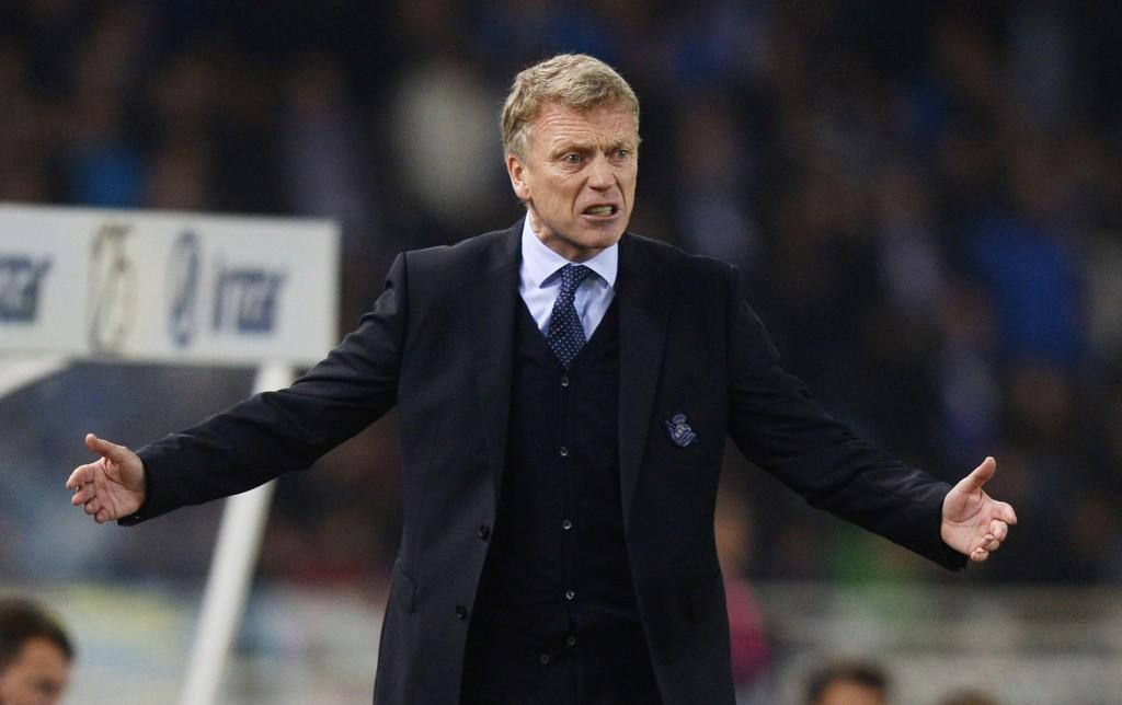 SENDT PÅ TRIBUNEN: Real Sociedad-trener David Moyes.