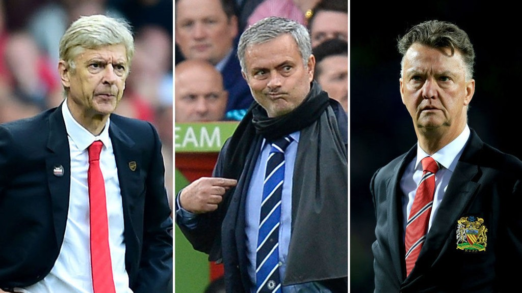 SKAL HANDLE?: Arsene Wenger, José Mourinho og Louis van Gaal.