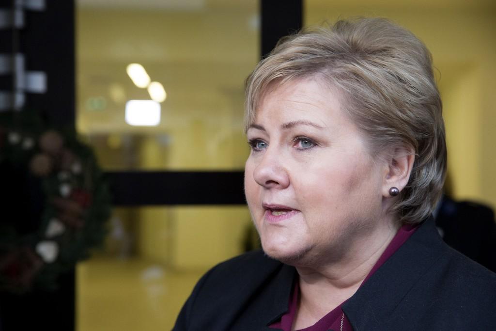 I MØTE: Statsminister Erna Solberg skal delta i det ekstraordinære møte om oljeprisen fredag.