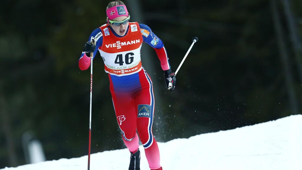 VANT: Ingen kunne gjøre noe med Ingvild Flugstad Østberg under sprinten i Estland.