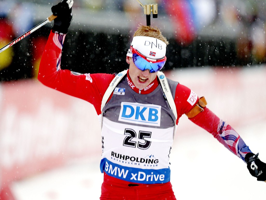 STORFORM: Johannes Thingnes Bø virket uslåelig i Ruhpolding lørdag. Foto: Vidar Ruud / NTB scanpix