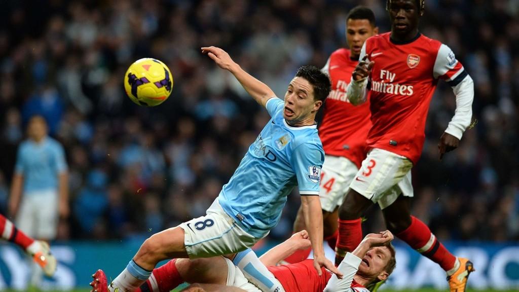 STYGT TAP: Arsenal ble et par nummer for små i seriekampen mot Manchester City på Etihad Stadium forrige sesong og gikk på et 6-3-tap. Wenger frykter ikke at det vil skje igjen.