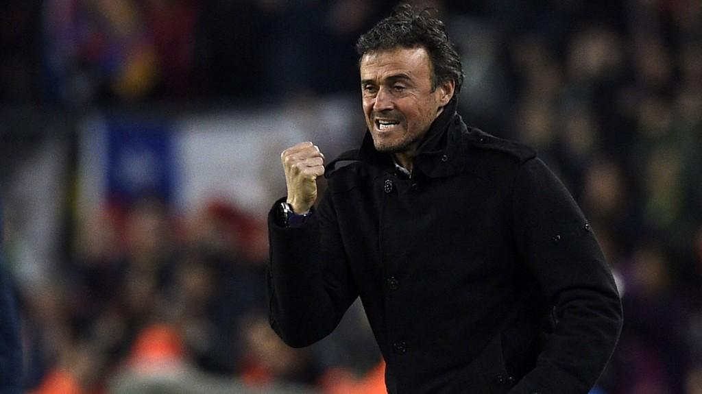 IKKE TRYGG: Barcelona-trener Luis Enrique kunne juble over en solid seier mot Atlético Madrid forrige helg, men han sier selv at blir det litt motgang igjen vil det fort ropes om hans avgang.