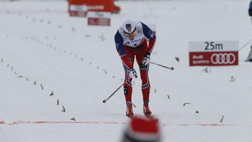 NUMMER TO: Finn Hågen Krogh maktet ikke å ta igjen russiske Sergey Ustiugov på oppløpet.