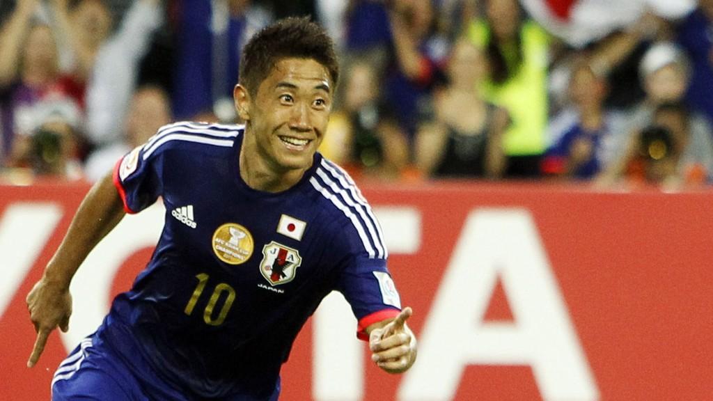 FULL POTT: Shinji Kagawa og Japan cruiser videre.
